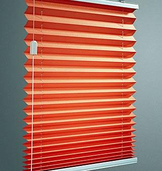 Range of pleated blinds