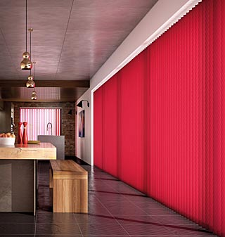 Range of vertical blinds
